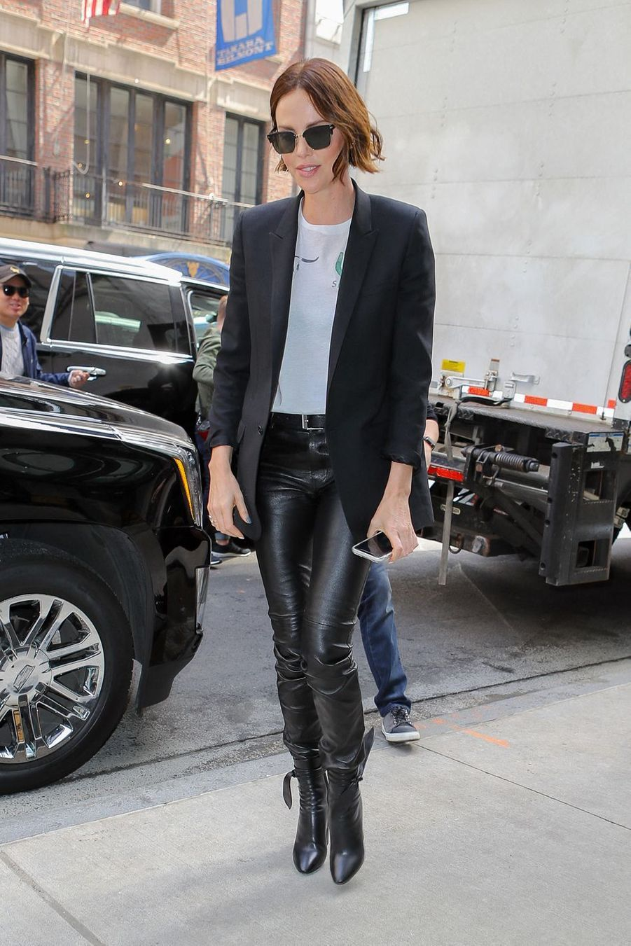 Charlize Theron à New York, le 29 avril 2019