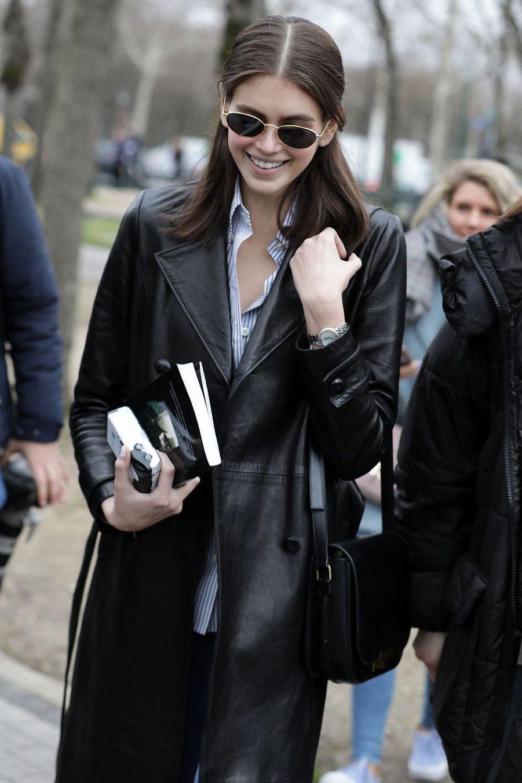 Kaia Gerber à Paris, le 5 mars 2019