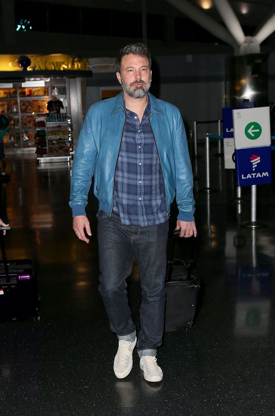 Ben Affleck à l'aéroport de New York, le 8 octobre 2017