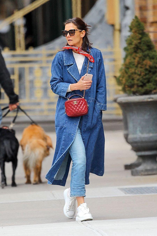 Katie Holmes à New York, le 27 mars 2019