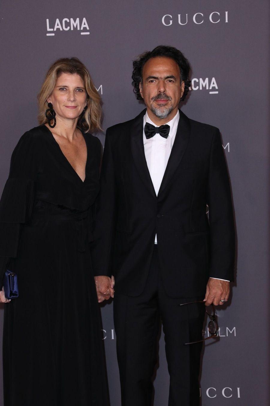 Alejandro Gonzalez Iñárritu Et Son Épouse Maria Eladia Hagerman À La Soirée LACMA Art Au Musée LACMA À Los Angeles, Le 4 Novembre 2017