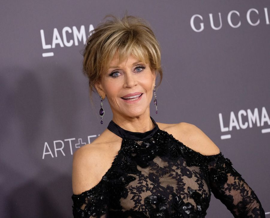 Jane Fonda À La Soirée LACMA Art Au Musée LACMA À Los Angeles, Le 4 Novembre 2017