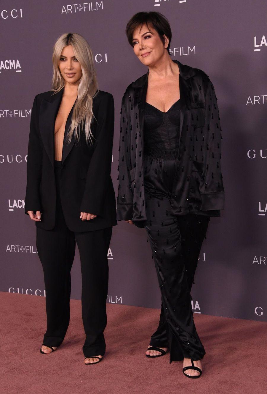 Kim Kardashian Et Sa Mère Kris Jenner À La Soirée LACMA Art Au Musée LACMA À Los Angeles, Le 4 Novembre 2017