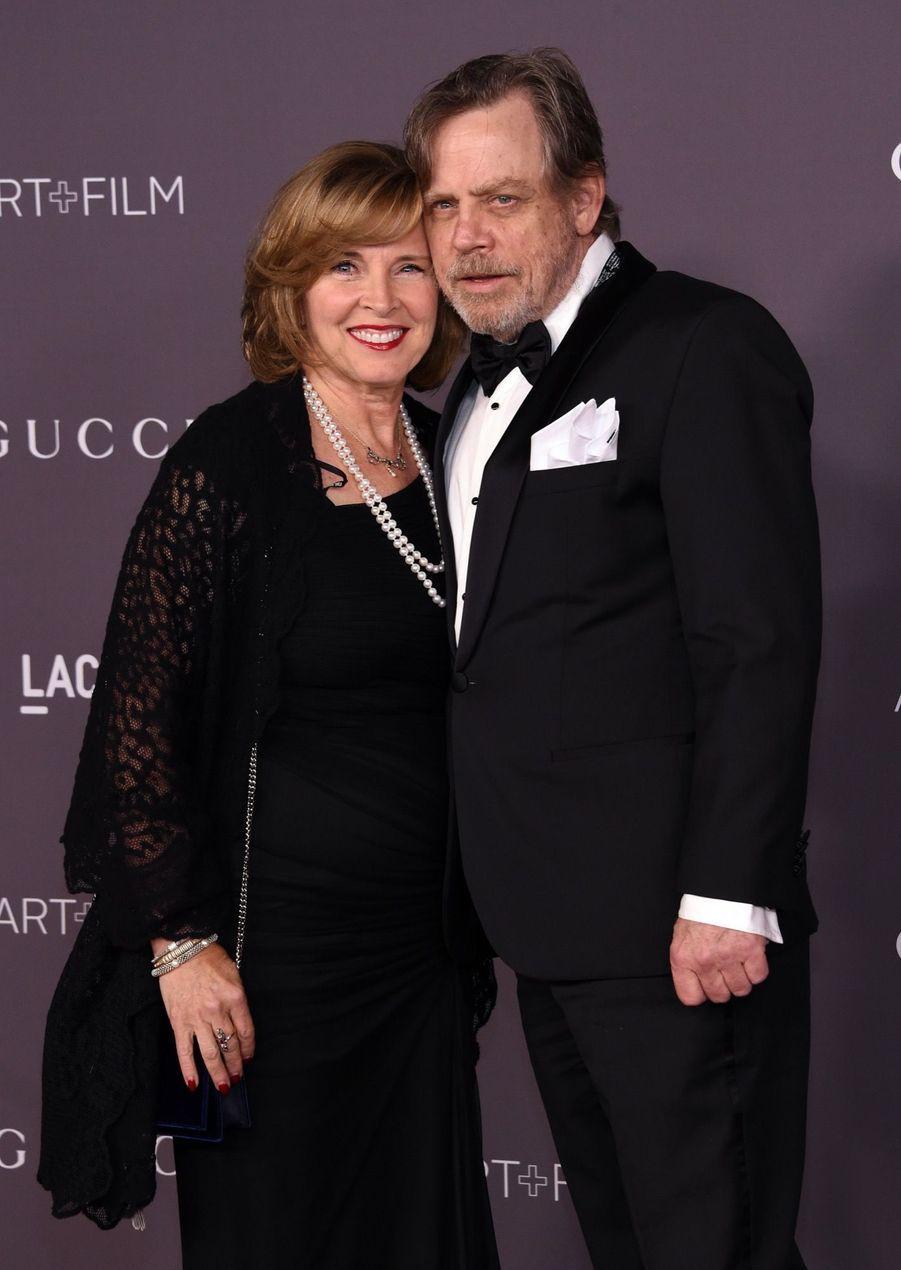 Mark Hamill Et Sa Femme Marilou York À La Soirée LACMA Art Au Musée LACMA À Los Angeles, Le 4 Novembre 2017