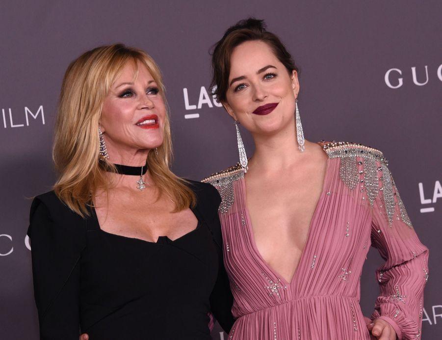 Melanie Griffith Et Sa Fille Dakota Johnson À La Soirée LACMA Art Au Musée LACMA À Los Angeles, Le 4 Novembre 2017