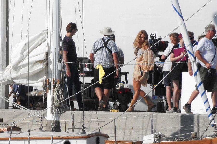 """L'équipe de """"Mamma Mia 2"""" en Croatie, en octobre 2017."""