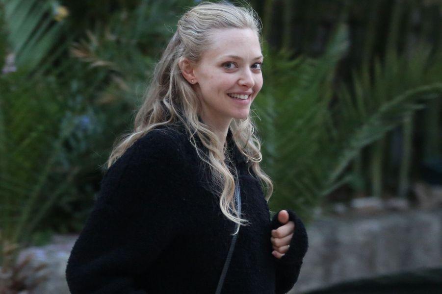 """Amanda Seyfried sur le tournage de """"Mamma Mia 2"""" en Croatie, en octobre 2017."""