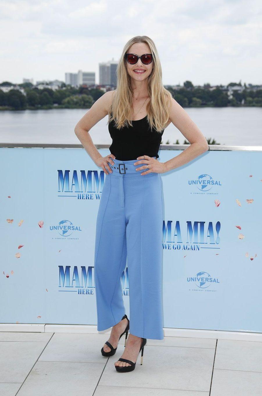 "Amanda Seyfried le 12 juillet 2018 à Hambourg pour ""Mamma Mia 2"""