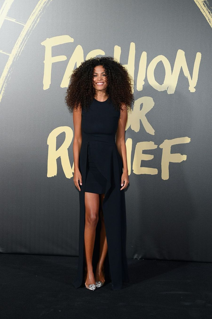 "Tina Kunakey au défilé ""Fashion For Relief"" à Londres le 14 septembre 2019"