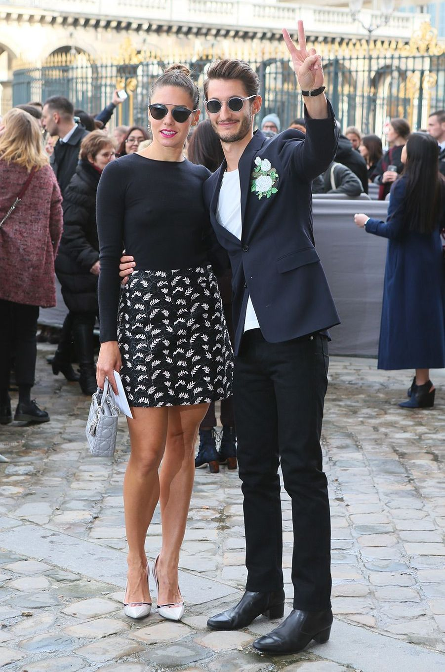 Pierre Niney et Natasha Andrews en mars 2016