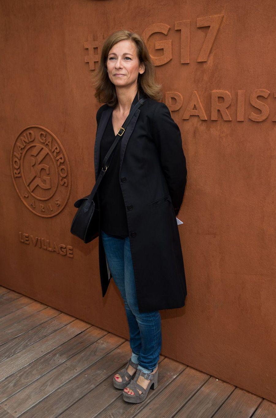 Anne Gravoinà Roland-Garros, le 3 juin 2017.