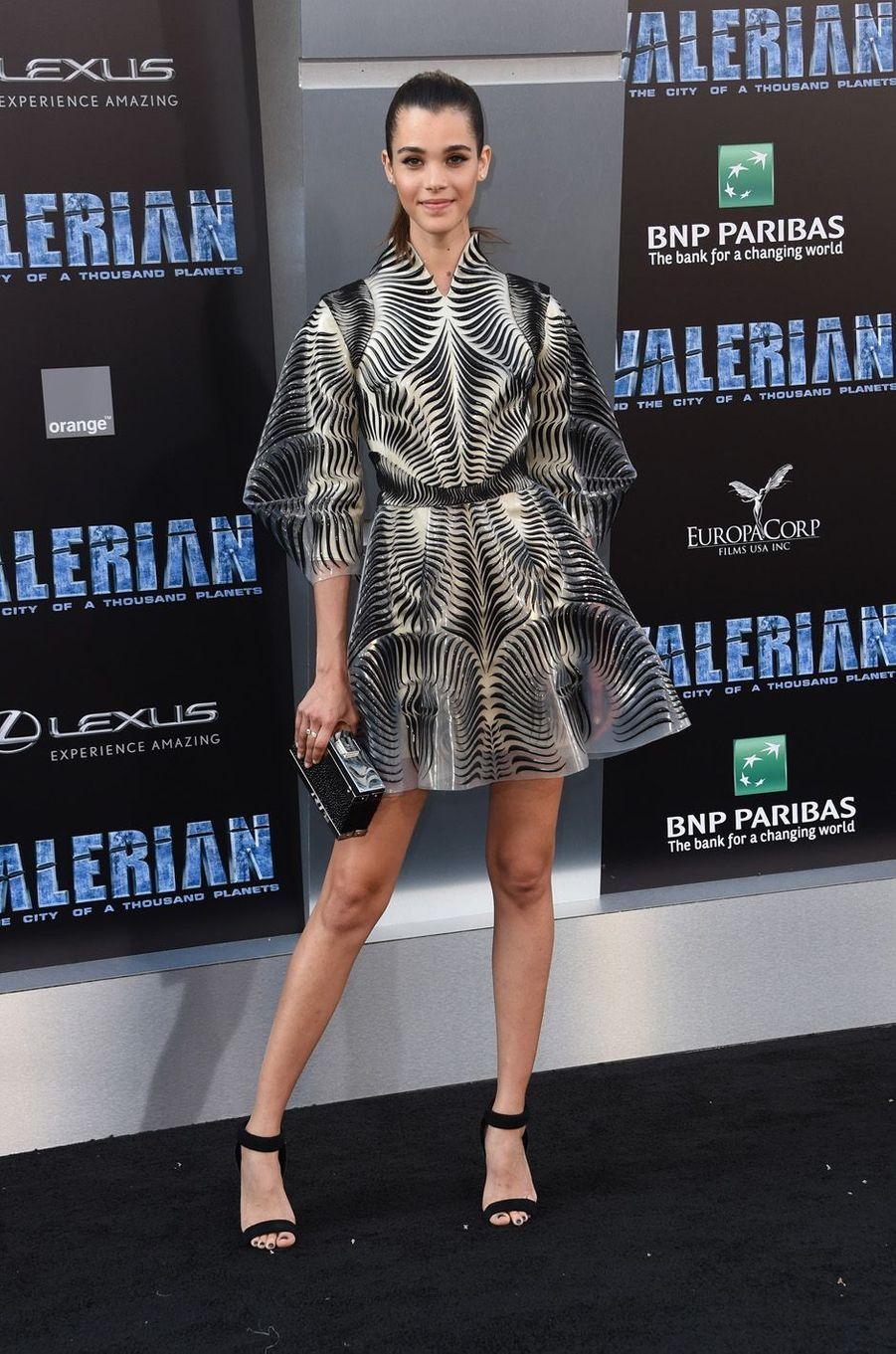 Pauline Hoarauà l'avant-première de Valérian et la Cité des mille planètes, le 17 juillet 2017 à Los Angeles.
