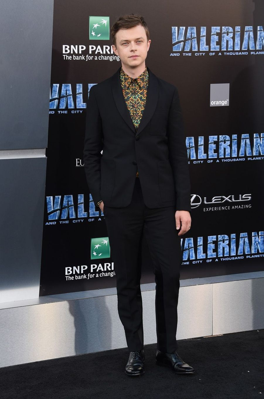 Dane DeHaanà l'avant-première de Valérian et la Cité des mille planètes, à Los angeles le 17 juillet 2017.