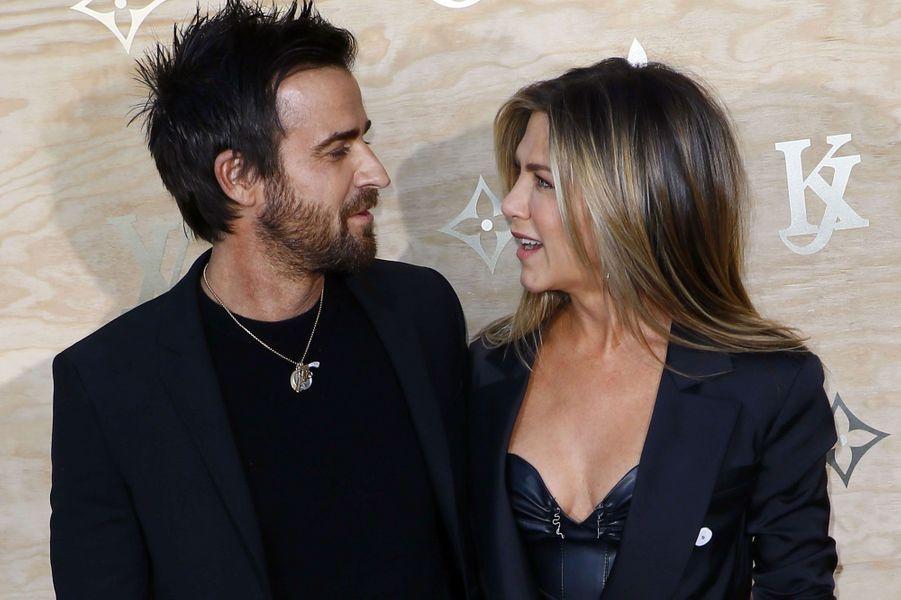 Justin Theroux et sa femme Jennifer Aniston.
