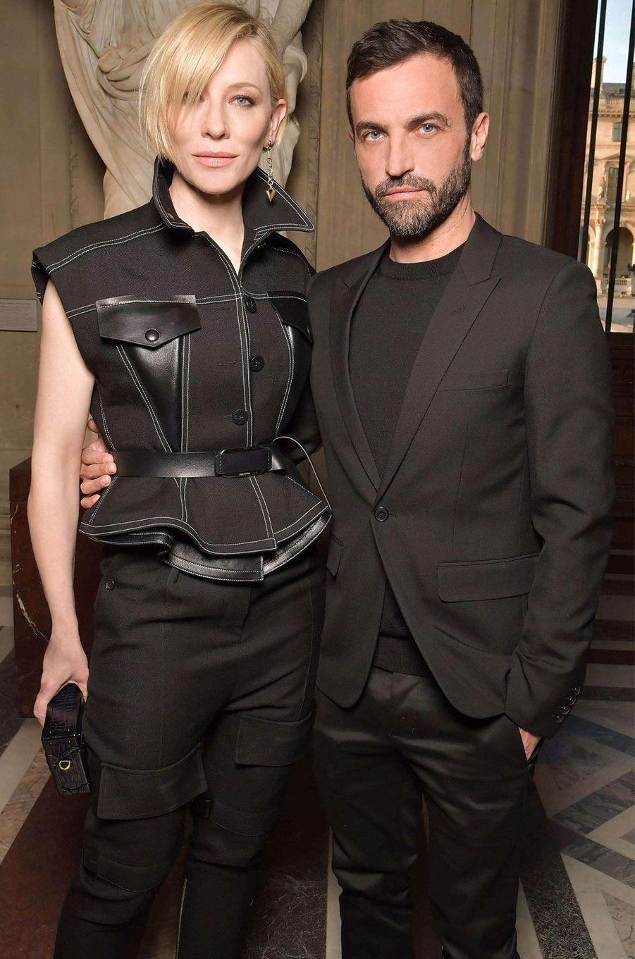 Cate Blanchett et Nicolas Ghesquiere.