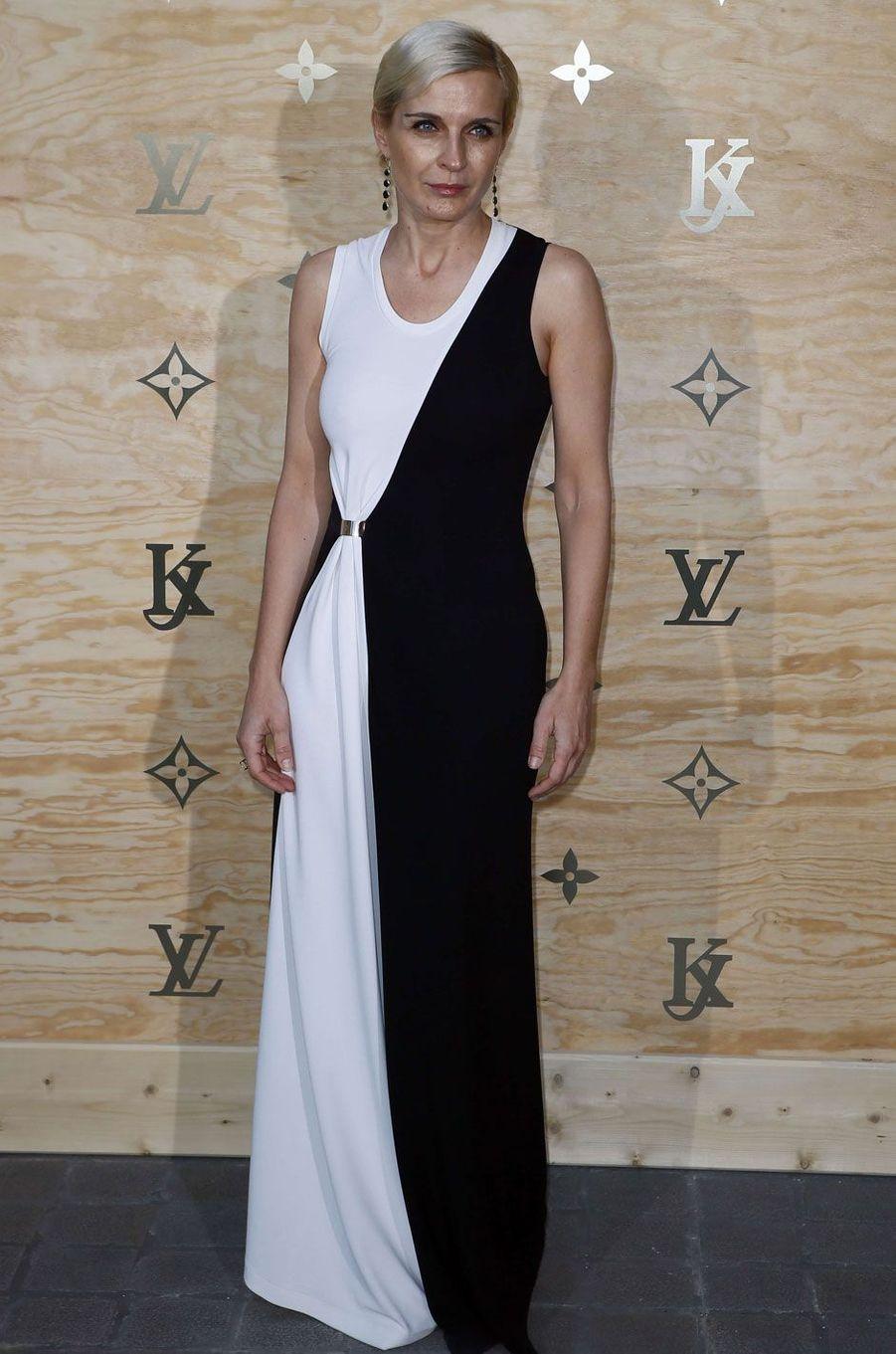 Melita Toscan du Plantier au dîner Louis Vuitton et Jeff Koons.