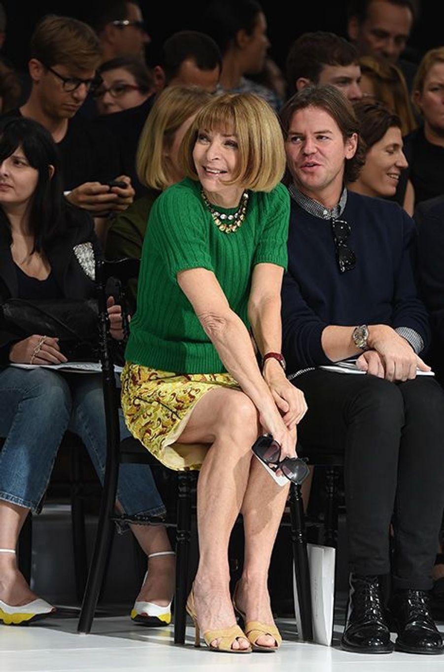 Anna Wintour au défilé Christian Dior, le 26 septembre 2014, à Paris