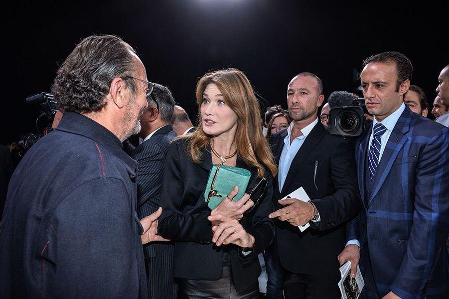 Carla Bruni au défilé Christian Dior, le 26 septembre 2014, à Paris
