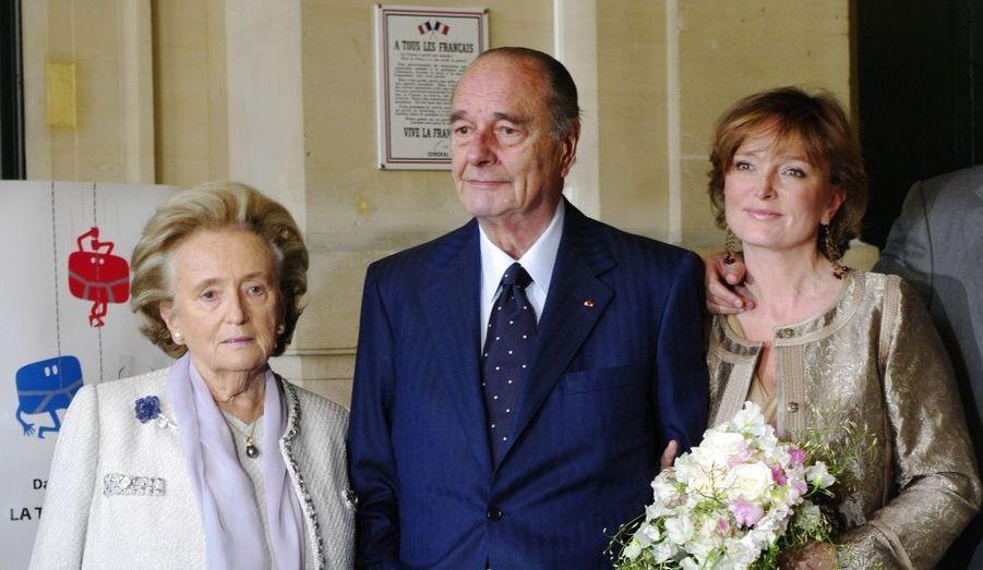 Claude Chirac et ses parents