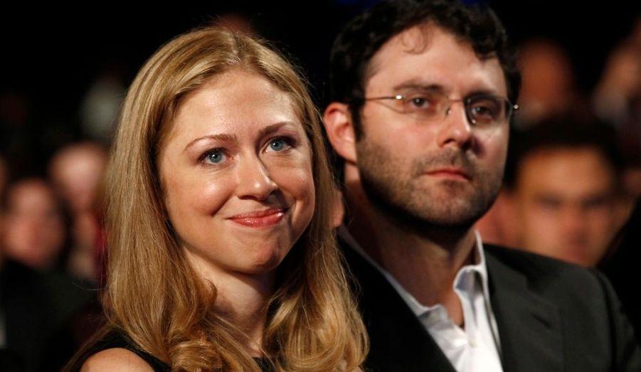 Le mari de l'actuelle secrétaire d'Etat des Etats-unis a pu compter sur le soutien de sa fille Chelsea.