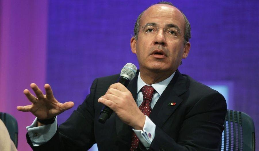 Des dirigeants du monde entier se sont donnés rendez-vous pour l'occasion à l'image du président mexicain Felipe Calderon.