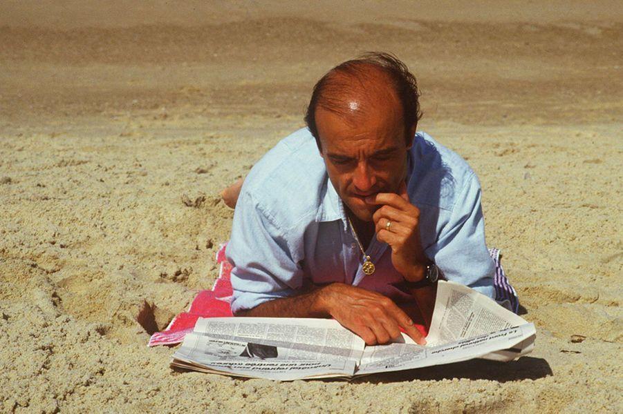 Août 1985, sur la plage d'Hossegor dans les Landes