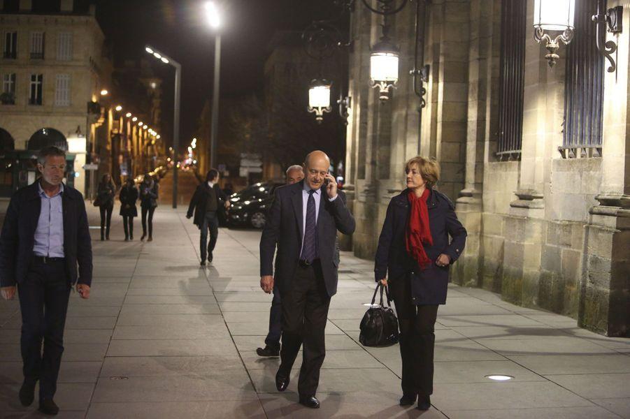 Avec Isabelle, dans les rues de Bordeaux, au soir du premier tour des municipales, en 2014