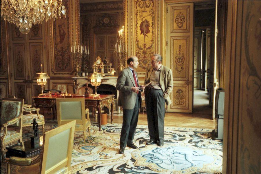 Avec le président Chirac, à l'Elysée, en avril 1996