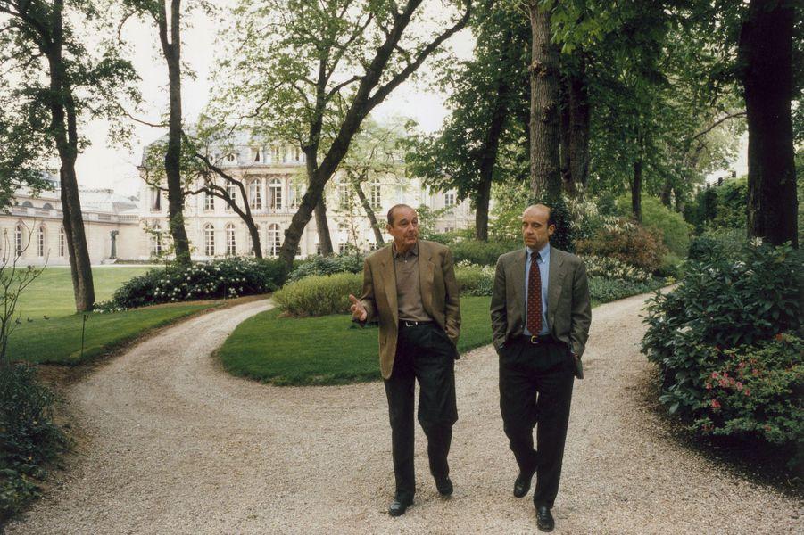 Dans le parc de l'Elysée, avril 1996