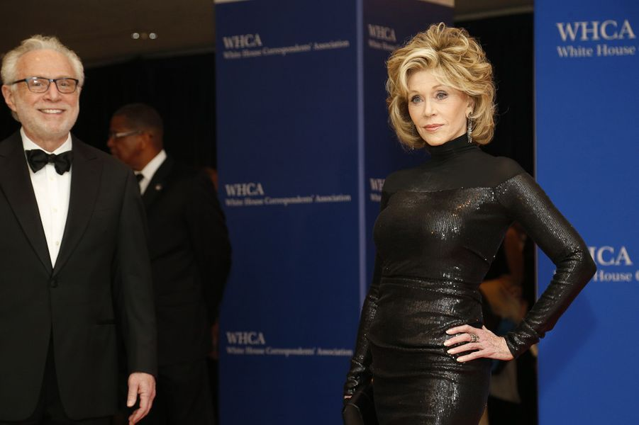 Wolf Blitzer et Jane Fonda au Dîner des Correspondants de la Maison Blanche