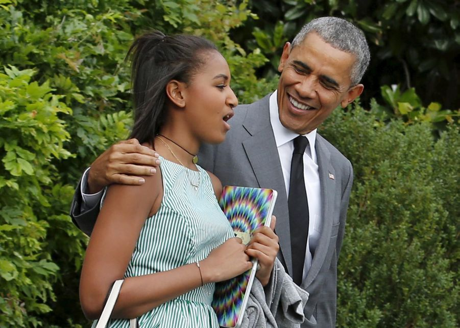 Barack Obama et Sasha