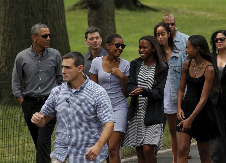 Barack Obama en virée avec ses filles
