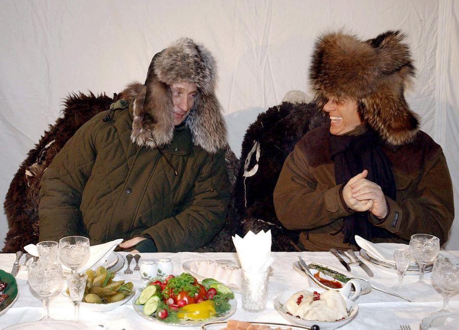 Dans la datcha de Poutine, à Zavidovo, près de Moscou (février 2003)