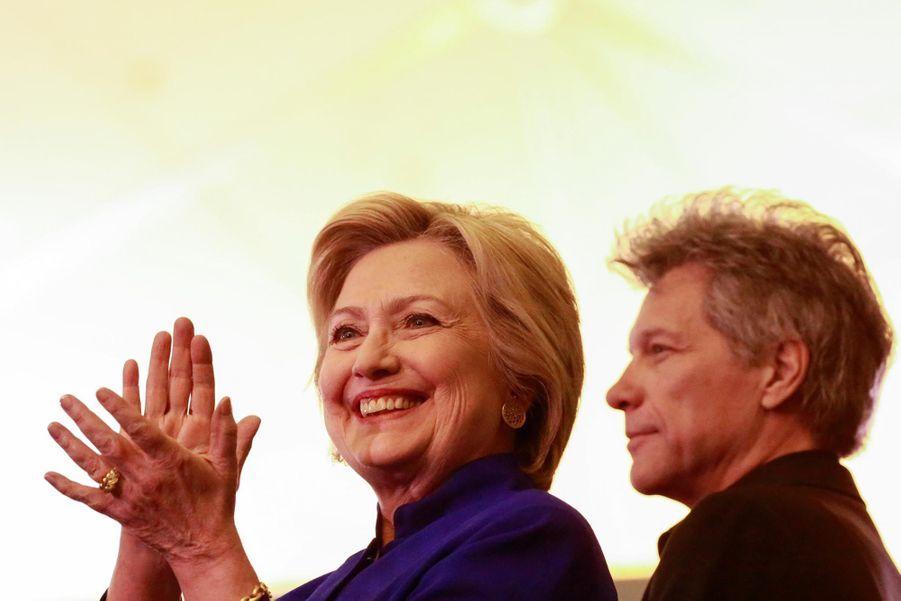 Hillary Clinton et Bon Jovi le 1er juin dans le New Jersey