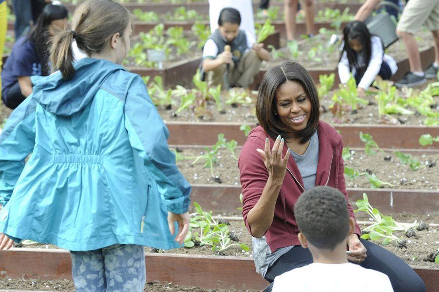 Michelle Obama à Washington le 15 avril 2015