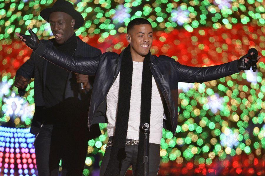 Le duo Nico & Vinz à l'inauguration des illuminations de la Maison Blanche