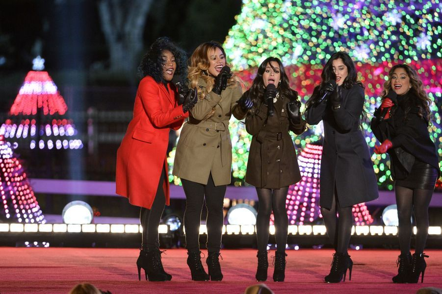 Le groupe Fifth Harmony à l'inauguration des illuminations de la Maison Blanche