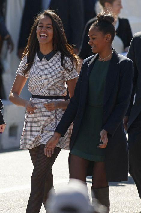 Malia et Sasha Obama, en mars 2015.