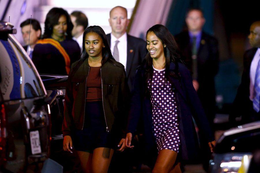 Malia et Sasha Obama, en mars 2016.