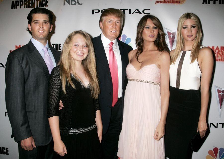 Donald Trump Jr., Tiffany, Donald, Melania et Ivanka Trump en juin 2006