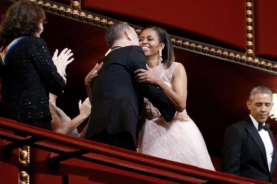 Michelle Obama et Tom Hanks au gala des Honneurs du Kennedy Center à Washington, le 7 décembre 2014