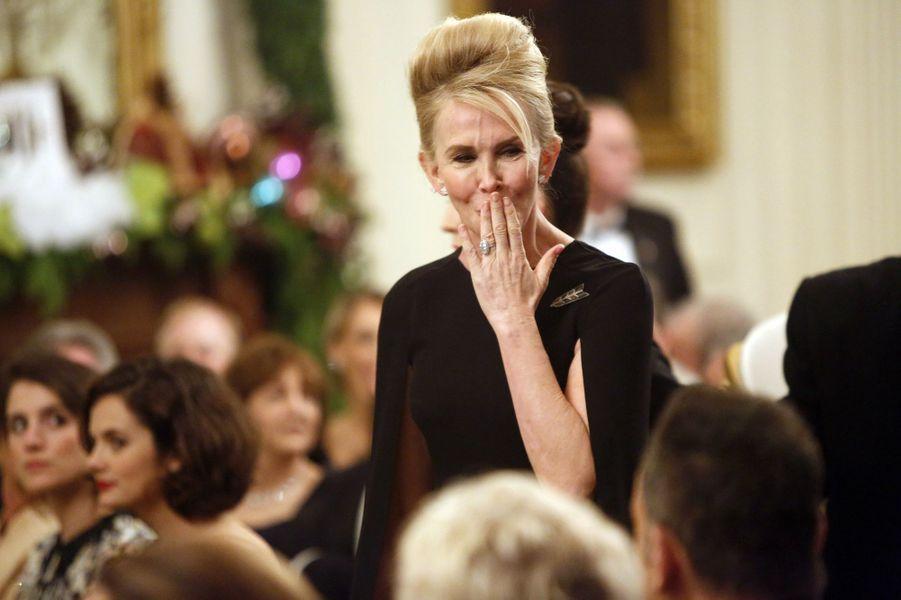 Trudie Styler, l'épouse de Sting, à la Maison blanche à Washington, le 7 décembre 2014