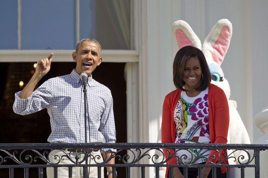 Barack et Michelle Obama à Washington le 6 avril 2015