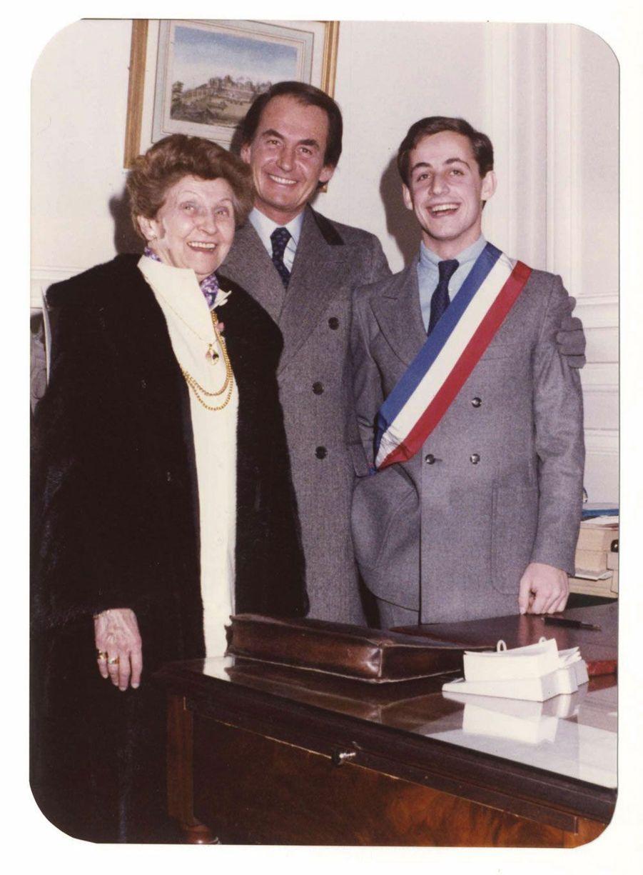 En 1977, avec son père Pal et sa grand-mère Katalin.