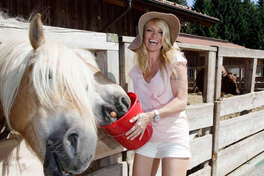 La star dans un sanctuaire pour animaux en Autriche, juin 2012