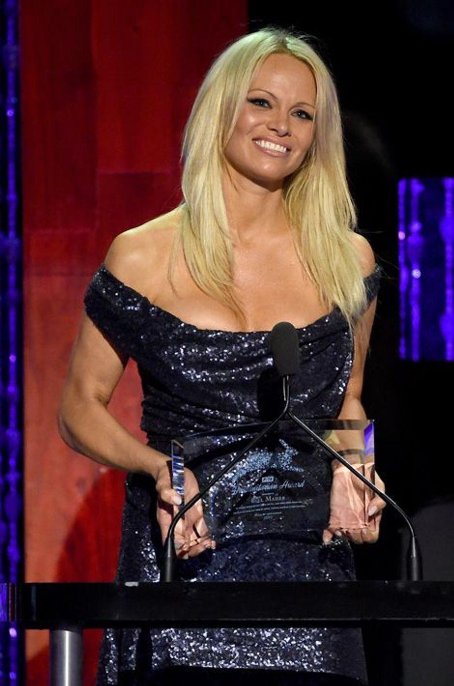 Pamela Anderson lors du 35e anniversaire de la PETA