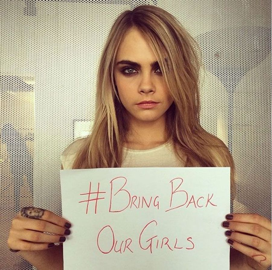 La top model Cara Delevingne.