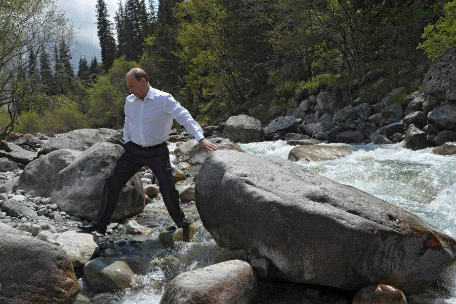 Vladimir Poutine au Kirghizstan, en mai 2013