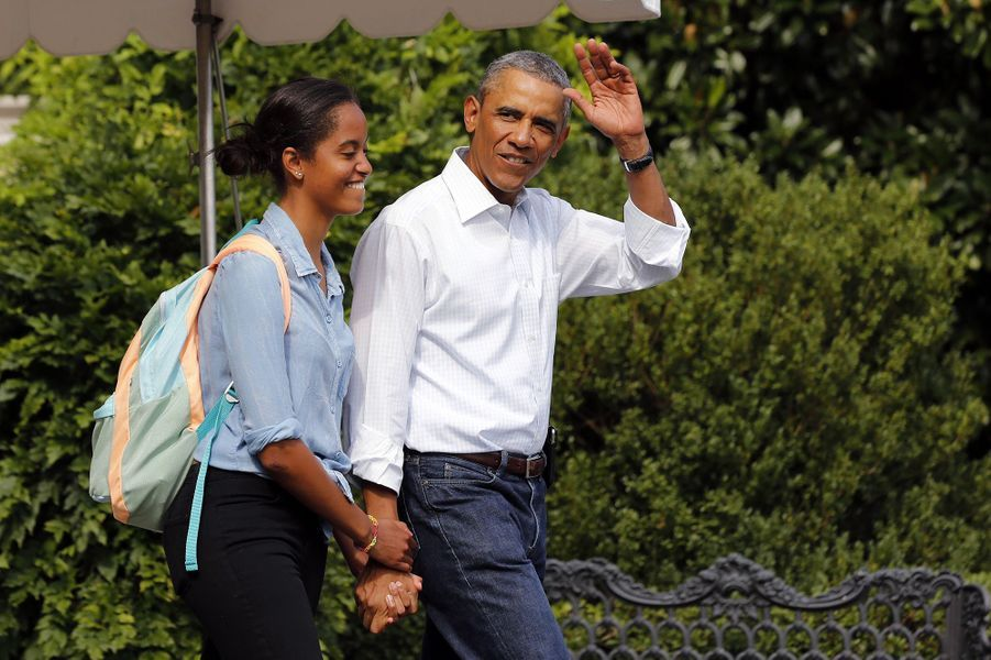 Barack Obama et sa fille Malia, en août 2014.