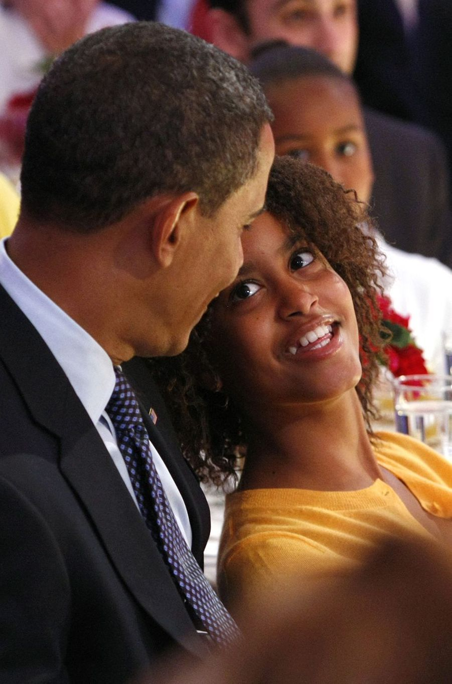Barack Obama et sa fille Malia, en juillet 2009.